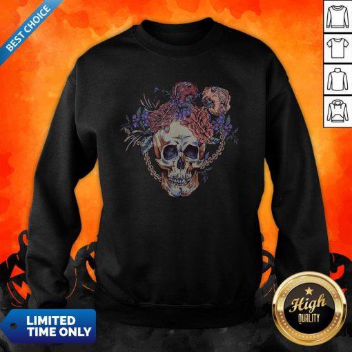 Day Of The Dead Vintage Sugar Skull Sweatshirt