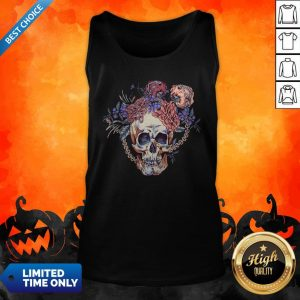 Day Of The Dead Vintage Sugar Skull Tank Top