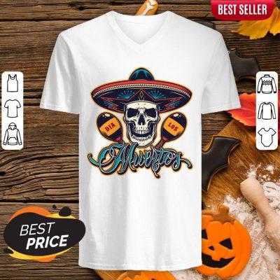 Dia De Los Muertos Day Of Dead Skull Mexican Holiday V-neck