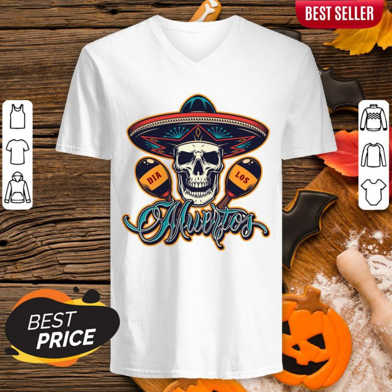 Dia De Los Muertos Day Of Dead Skull Mexican Holiday V-neck