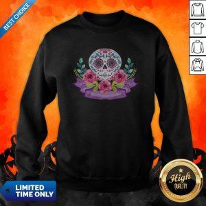 Dia De Muertos Day Of Dead Sugar Skull Flower Sweatshirt