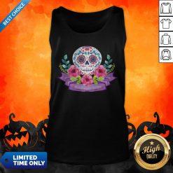 Dia De Muertos Day Of Dead Sugar Skull Flower Tank Top