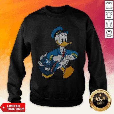 Donald Duck Mail Carrier Drawing Cartoon Sweatshirt