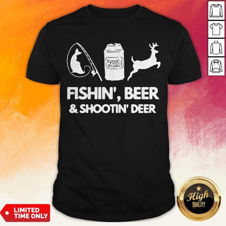 Fishin Beer And Shootin Deer 2020 Shirt