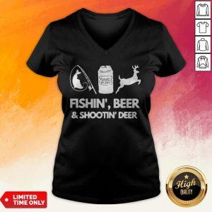 Fishin Beer And Shootin Deer 2020 V-neck