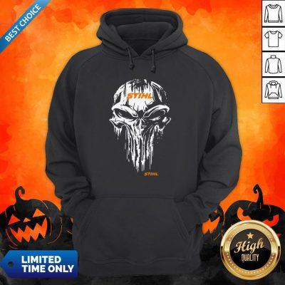 Funny Skull Stihl Logo Halloween Hoodie