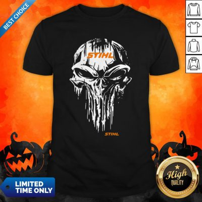 Funny Skull Stihl Logo Halloween Shirt