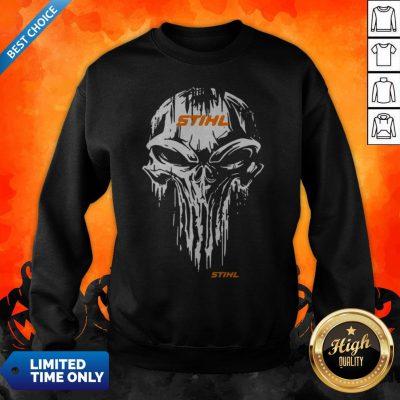 Funny Skull Stihl Logo Halloween Sweatshirt