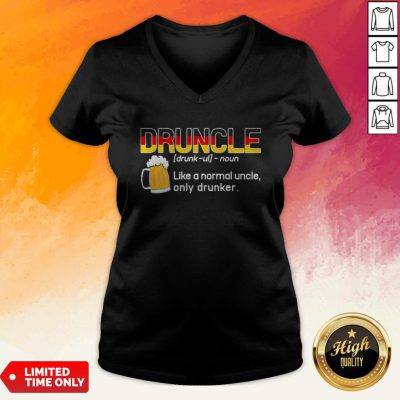 Germany Ndruncle Noun Like A Normal Uncle Only Drunker Beer V-neck