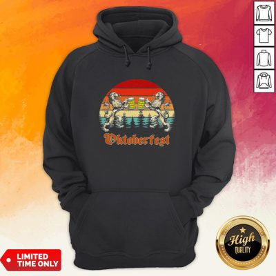 Germany Oktoberfest 2020 Heraldic Lion Drinking Beer Vintage Hoodie