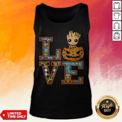 Good Groot Pumpkin Love Halloween Tank Top