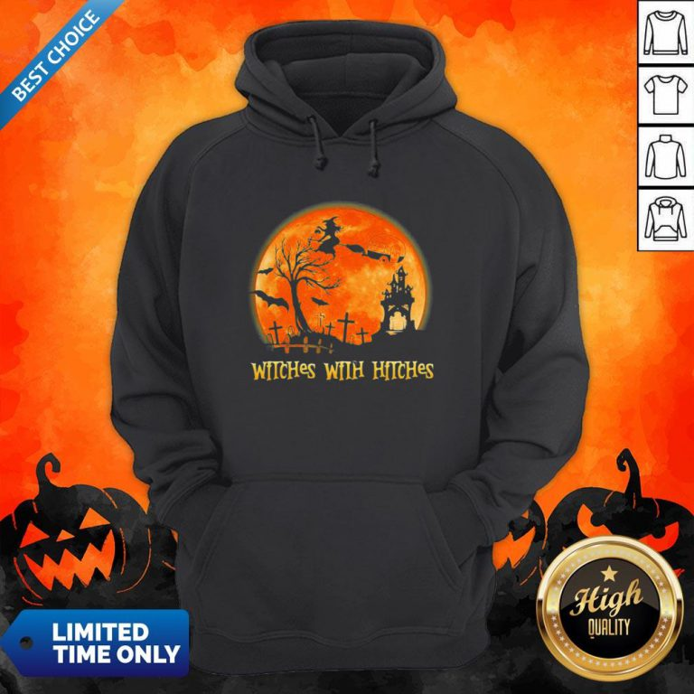 Good Witches With Hitches Sunset Halloween Hoodie