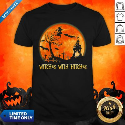 Good Witches With Hitches Sunset Halloween Shirt