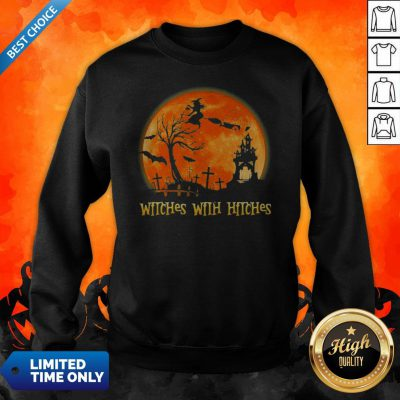 Good Witches With Hitches Sunset Halloween Sweatshirt