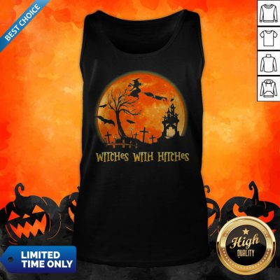 Good Witches With Hitches Sunset Halloween Tank Top