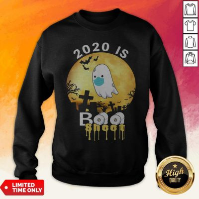 Halloween 2020 Is Boo Sheet Ghost Moon Sweatshirt