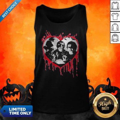 Halloween Freddy Krueger Jason Voorhees And Michael Myers Heart Tank Top