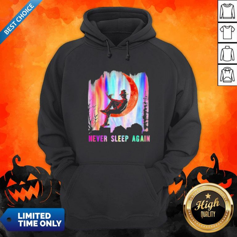 Halloween Freddy Krueger Never Sleep Again Moon Hoodie