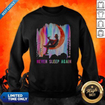 Halloween Freddy Krueger Never Sleep Again Moon Sweatshirt