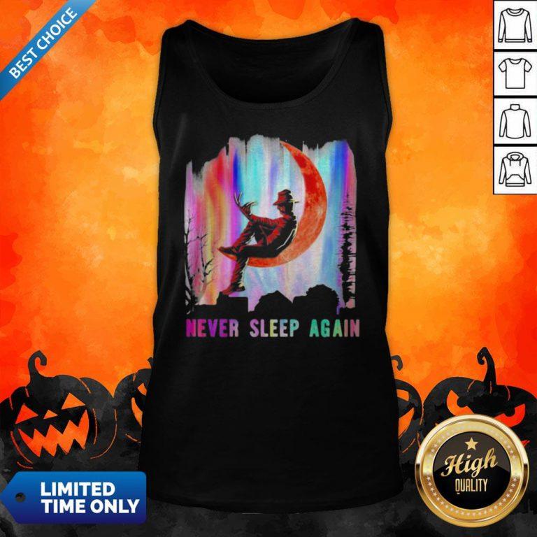 Halloween Freddy Krueger Never Sleep Again Moon Tank Top