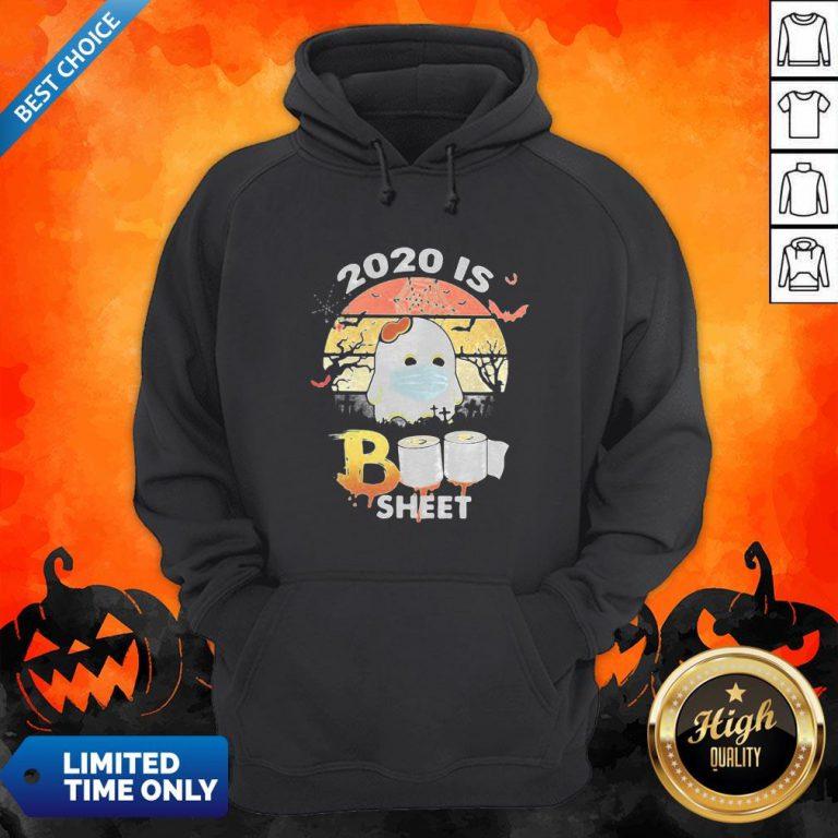 Halloween Ghost Mask 2020 Is Boo Sheet Toilet Paper Vintage Retro Hoodie