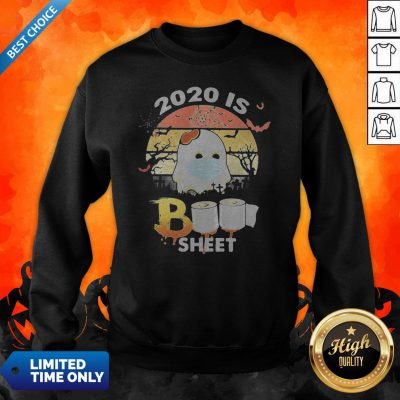 Halloween Ghost Mask 2020 Is Boo Sheet Toilet Paper Vintage Retro Sweatshirt