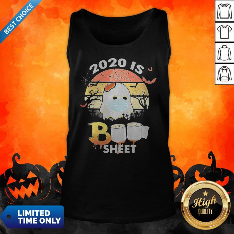 Halloween Ghost Mask 2020 Is Boo Sheet Toilet Paper Vintage Retro Tank Top