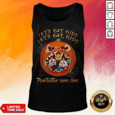 Halloween Let's Eat Kids Let's Eat Kids Punctuation Saves Live Tank Top