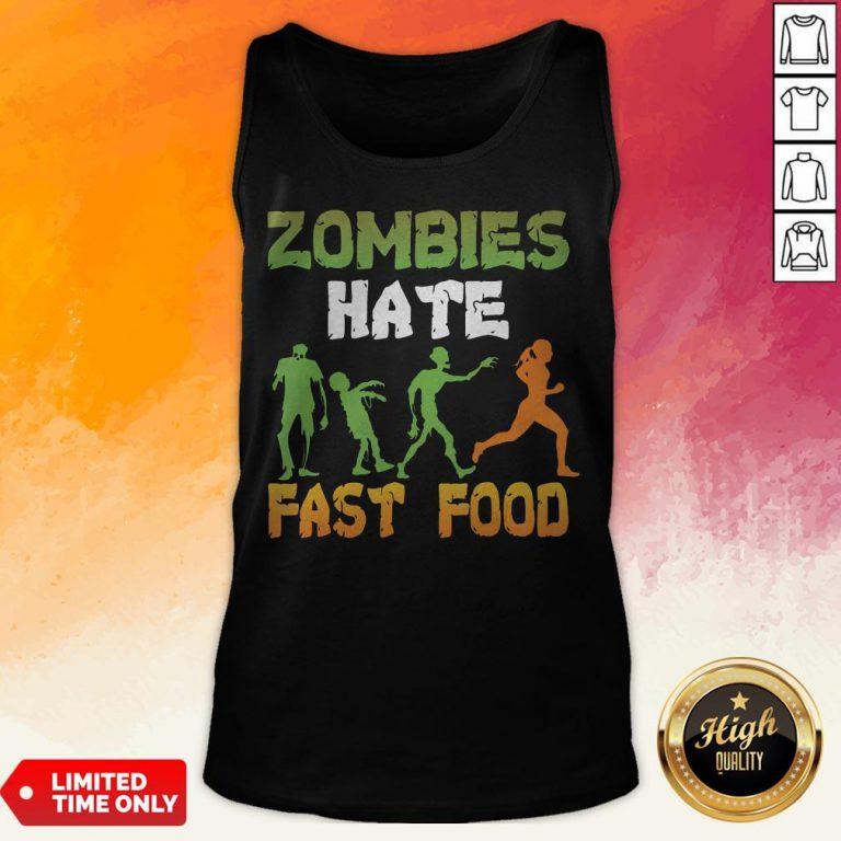 Halloween Zombies Hate Fast Food Tank Top