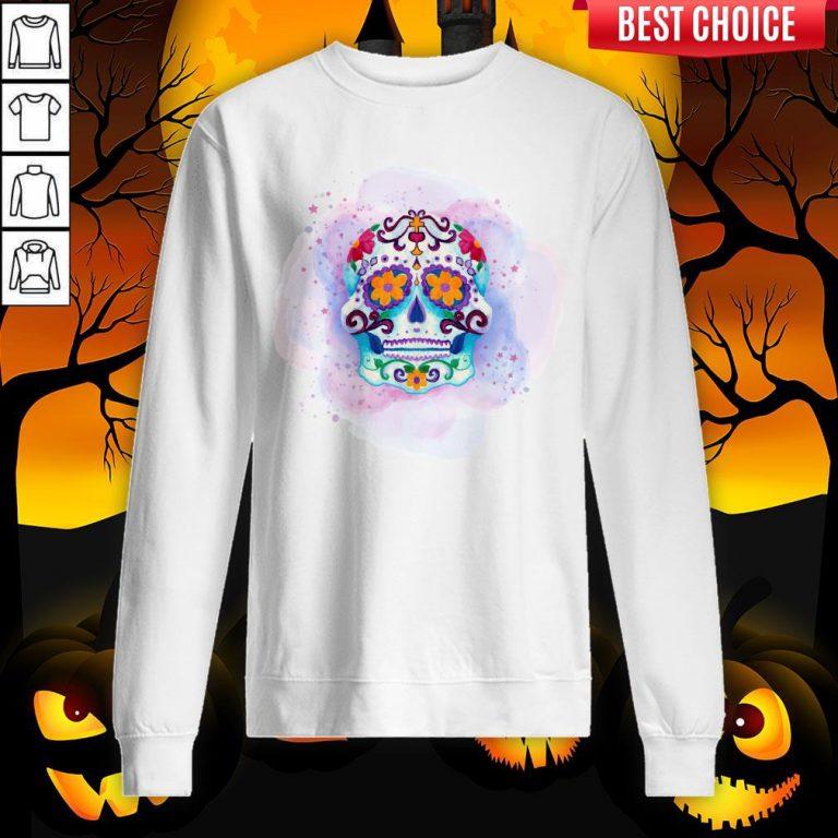 Happy Dia De Los Muertos Day Dead Sugar Skull Sweatshirt