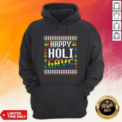 Happy Holi Gays Christmas Lgbt Hoodie