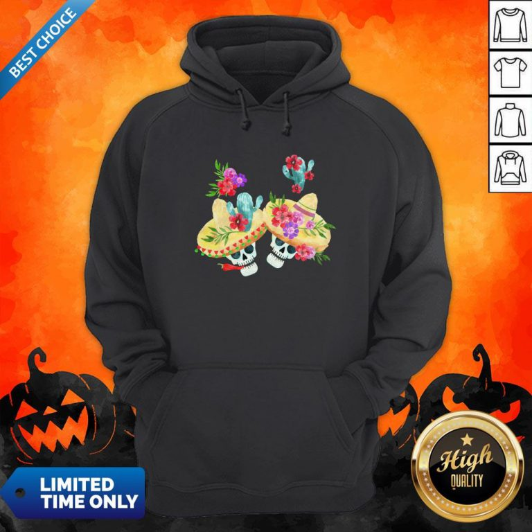 Happy Mexican Holiday Sugar Skull Day Of Dead Hoodie