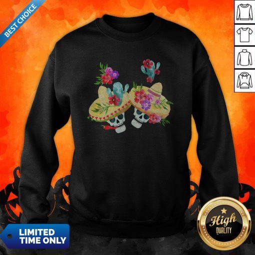 Happy Mexican Holiday Sugar Skull Day Of Dead Sweatshirt