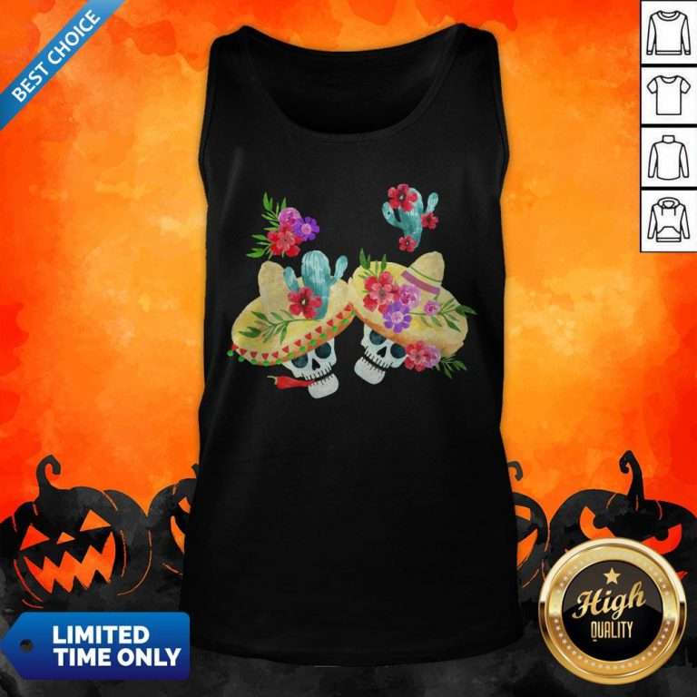 Happy Mexican Holiday Sugar Skull Day Of Dead Tank Top