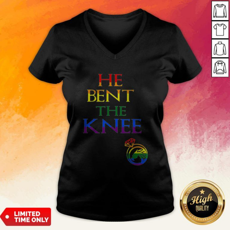 He Bent The Knee Gay And Lesbian Lgbt Wedding Bachelor Party V-neck