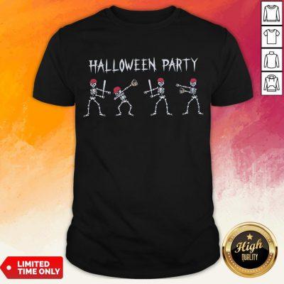 Hot Skeleton Halloween Party Shirt