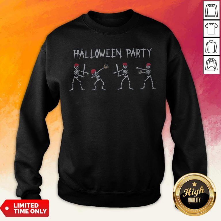 Hot Skeleton Halloween Party Sweatshirt