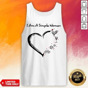 I Am A Simple Woman Chicken Wine Dog Paw And Flip Flop Tank Top