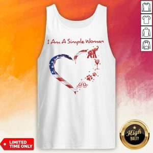 I Am A Simple Woman Elephant Trump Wine Paw And Flip Heart America Tank Top