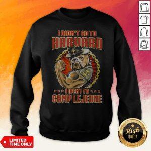 I Didn't Go To Harvard I Went To Camp Lejeune Dog Sweatshirt