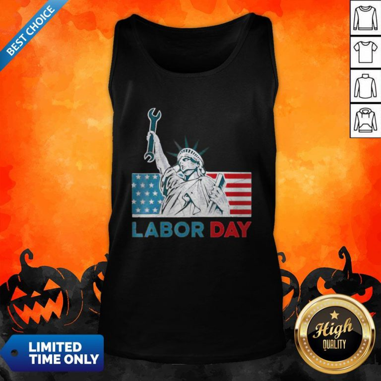 Labor Day American Flag Statue Of Liberty Labor Day Tank Top