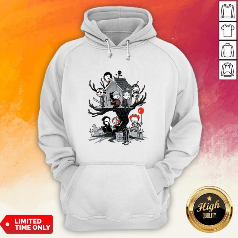 Maniac Park Horror Character Theme Park Tree Halloween Hoodie
