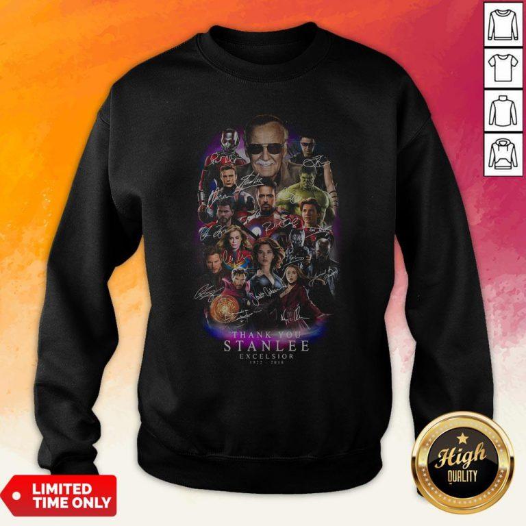 Marvel Heroes Thank You Stan Lee Excelsior 1922-2018 Signature Sweatshirt