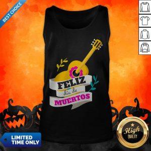 Mexican Guitar Feliz Dia De Muertos Day Dead Tank Top