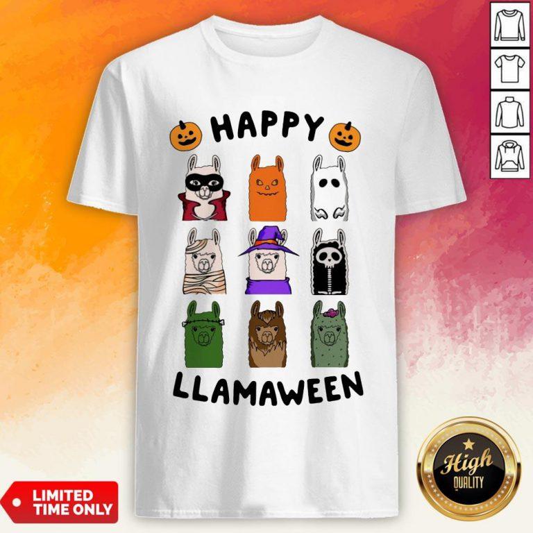 Nice Happy Llamaween Camel Halloween Shirt