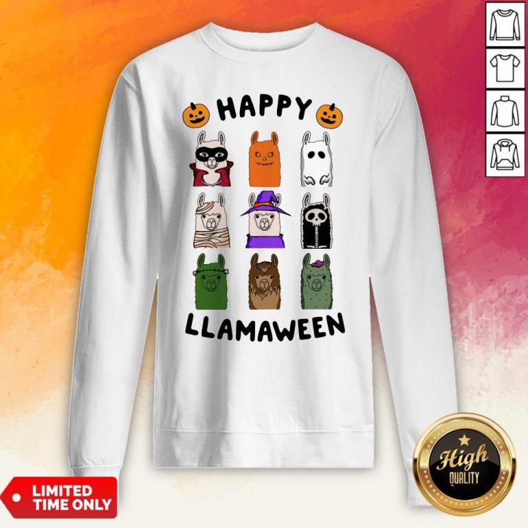Nice Happy Llamaween Camel Halloween Sweatshirt