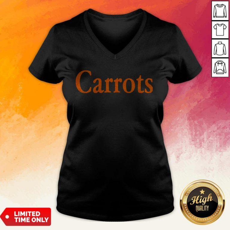 Nice Orange Carrots V-neck