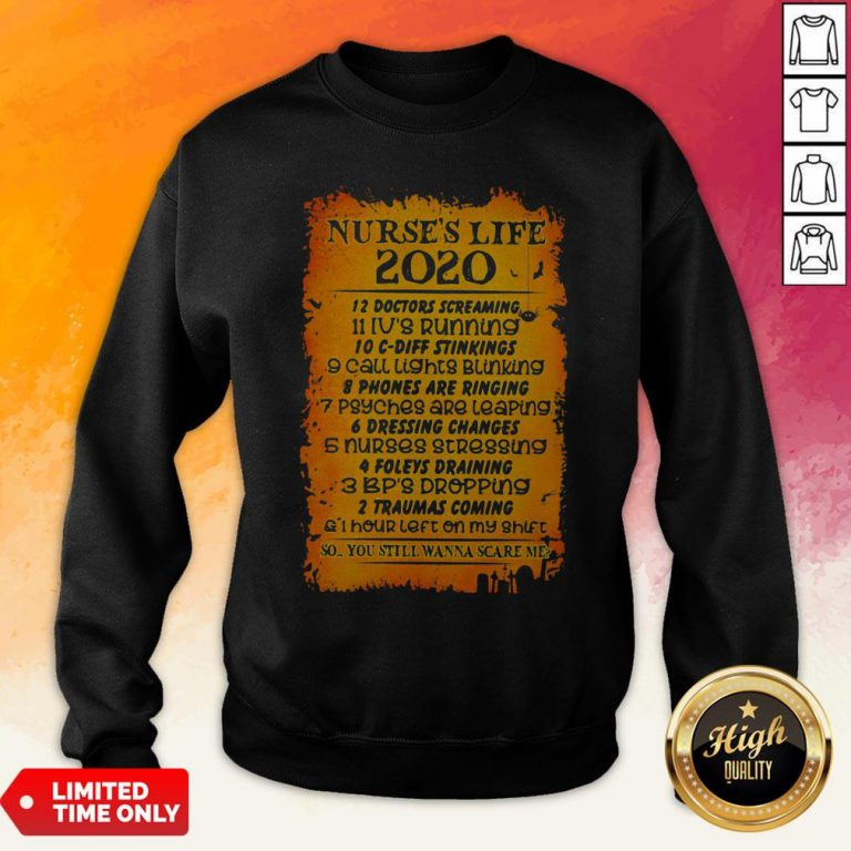 Nurses Life 2020 12 Doctors Screaming Sweatshirt