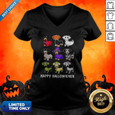Official Dachshund Happy Halloween V-neck