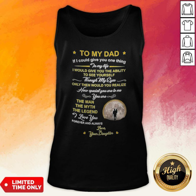 Official To My Dad Coffee Mugn Tank Top